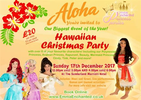christmas in hawaii themed party hawaiian tickets dates eventbrite