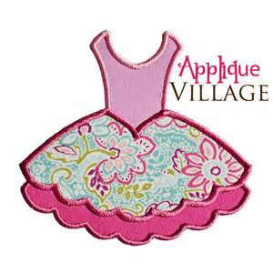 Ballet tutu applique embroidery design by appliquevillage on etsy