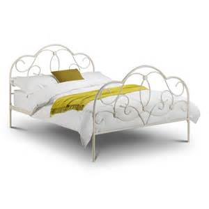 White Frame Bed Arabella Stone White Metal Bed Frame Next Day Delivery