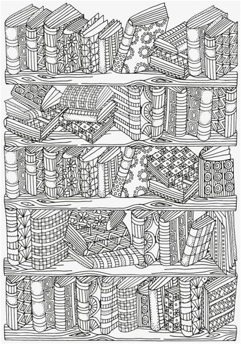 coloring pages bookshelves adult coloring pages bookshelves pinteres
