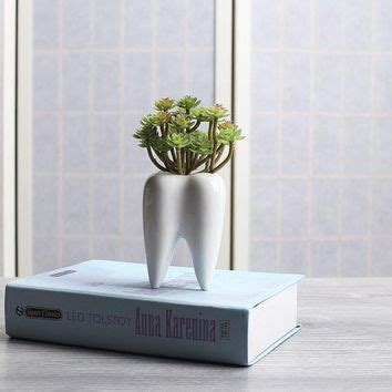 tooth shaped planter best mini ceramic planters products on wanelo