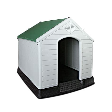 weatherproof dog house xl weatherproof plastic dog kennel pet puppy outdoor indoor garden dog house ebay
