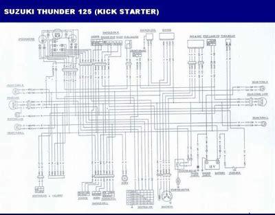 wiring diagram suzuki thunder 125 wiring diagram manual