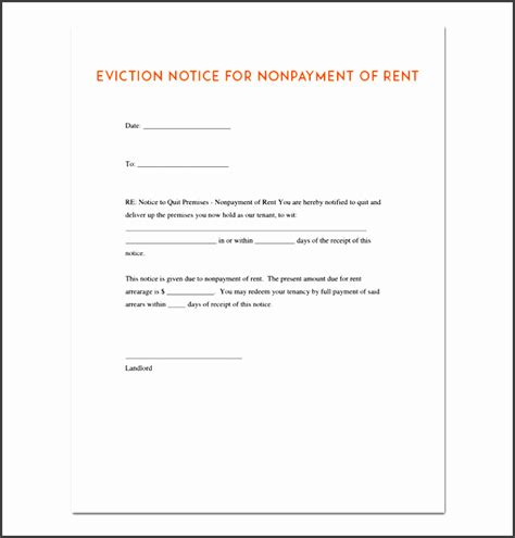 5 Eviction Notice Template Easy To Customize Sletemplatess Sletemplatess Eviction Notice Template Word