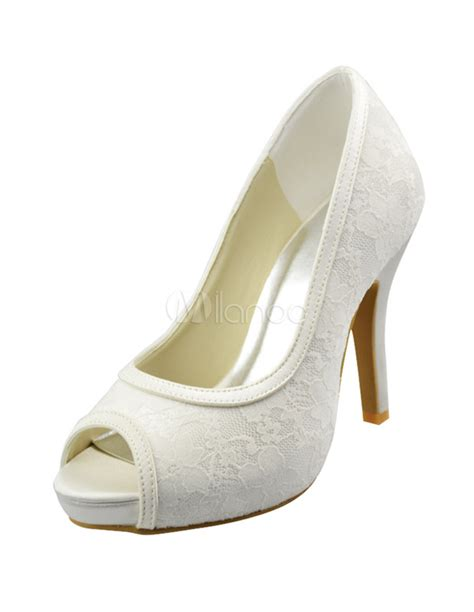 Pumps Ivory Spitze by Ivory Lace Pumps Milanoo