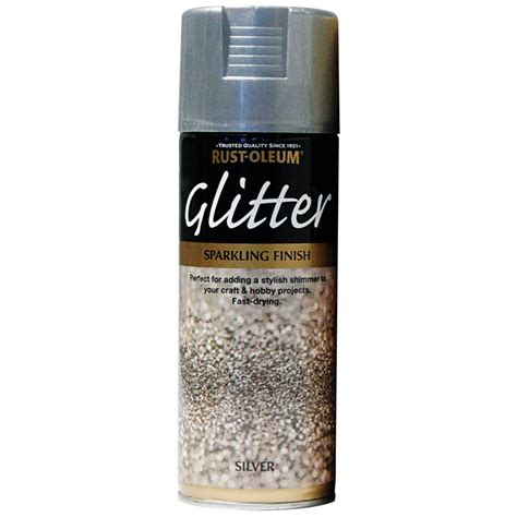 rust oleum glitter particle spray paint silver sparkling finish 400ml ebay