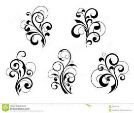 Flower Motif Design Floral Elements And Motifs Stock Images Image 22419474