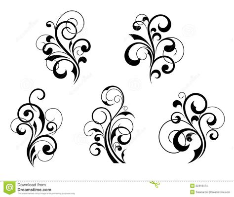 floral elements and motifs stock vector image of ornate