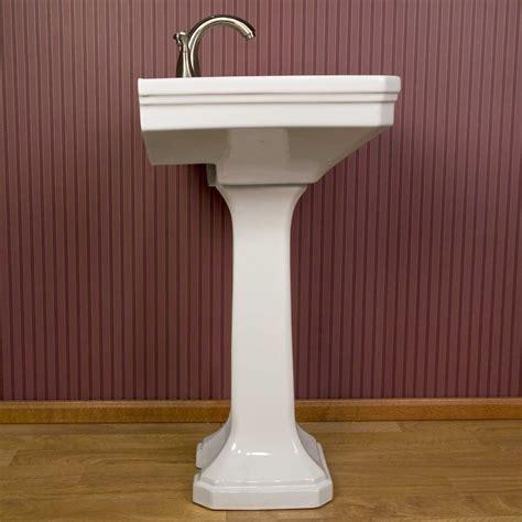 kacy porcelain pedestal sink signature hardware kacy porcelain pedestal sink ebay