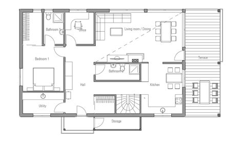 Cheap Floor Plans by Affordable Home Plans Economical House Plan Ch35