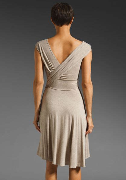 Dress Khaka Jumbo Dc plenty by tracy reese melange jersey ruched bodice dress in khaki lyst