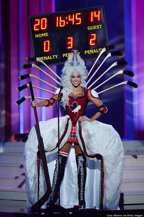 contest canada 2015 miss universe canada s hockey costume was created by saw