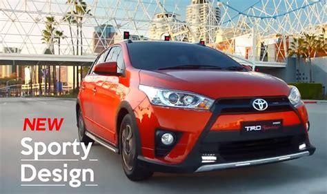 Emblem Trd Bendera Warna Silver toyota yaris trd sportivo terbaru siap mendebut autos id