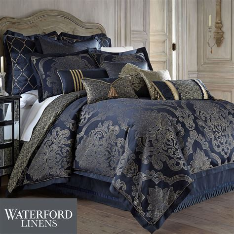 navy bedding set vaughn navy comforter bedding by waterford linens