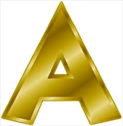 free gold letter a clipart free clipart graphics images