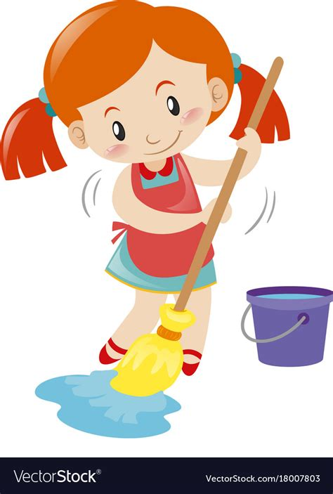 mob the floor mopping floor alone royalty free vector image