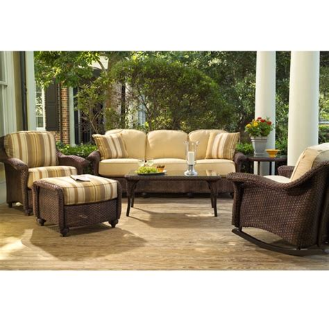 lloyd outdoor furniture lloyd flanders oxford wicker patio sofa set lf oxford set1