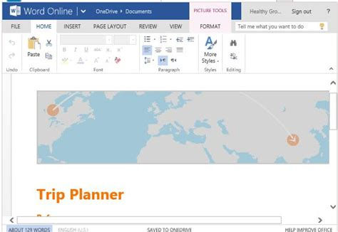free trip planner template for word