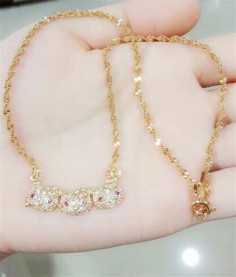 Aksesoris Wanita Kalung Pita Perhiasan Lapis Emas Xuping Xp1679g Ee jual kalung anak rantai tiga xuping perhiasan lapis emas jewelry