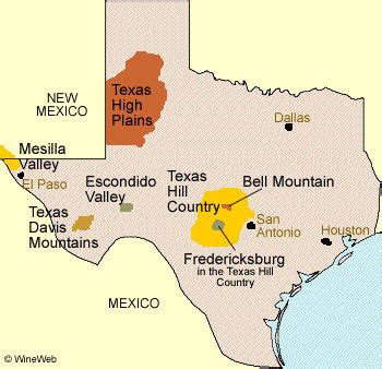 texas wine map texas usa wineark