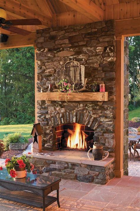 Garden Fireplaces by 53 Most Amazing Outdoor Fireplace Designs