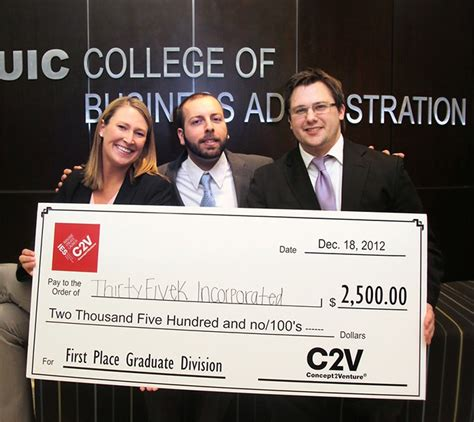 Uic Mba Cost by Student Entrepreneurs Win At Business Plan Competition