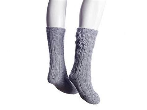 lemon slipper socks lemon cable knit slipper sock dsw