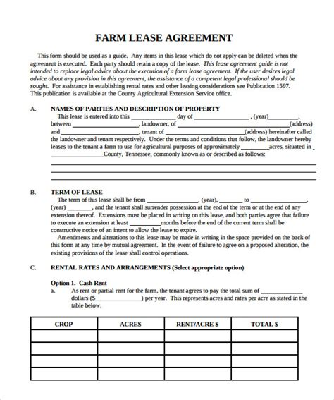 9 Property Lease Agreement Templates To Download For Free Sle Templates Property Lease Agreement Template