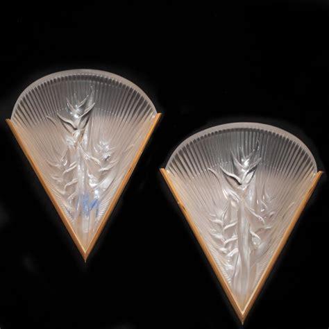 Lalique Sconces lalique heliconia wall sconces