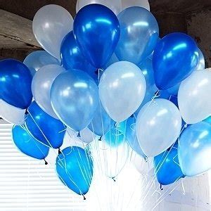 Amazon.com: NEO 10'' White & Blue Latex Pearl Balloons for Party Decoration 100pcs: Toys & Games