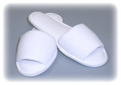 white spa slippers skin spa white terry spa slippers