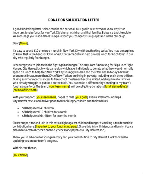 Fundraising Ask Letter Sle Donation Letter 10 Exles In Word Pdf