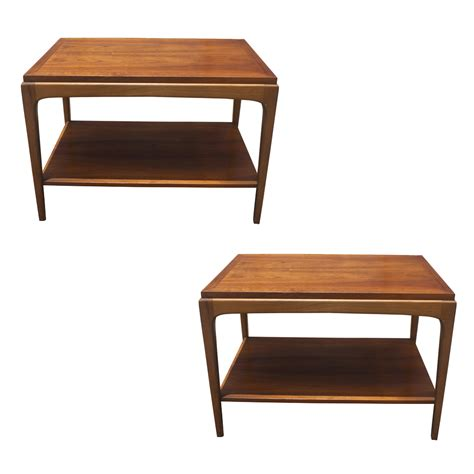 Coffee Table With End Tables 2 Vintage Walnut Side End Tables Ebay