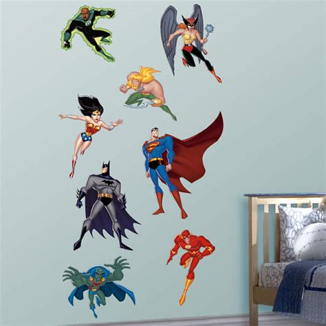 Sticker Laptop Justice League Heroes size justice league wall decal shop fathead 174 for