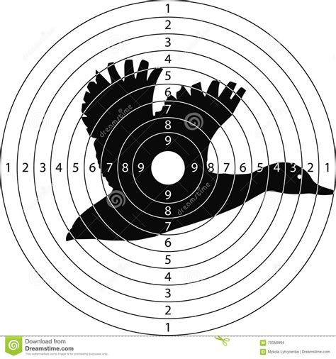 free printable duck targets target shooting duck stock illustration illustration of