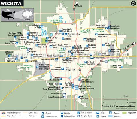 wichita usa map wichita map map of wichita kansas