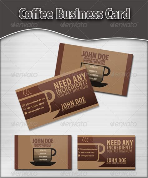 coffee business card template templates for coffee business cards 187 tinkytyler org