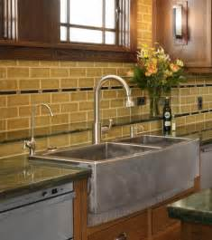 kitchen sinks with backsplash glass doors apron sink stainless steel appliances wood