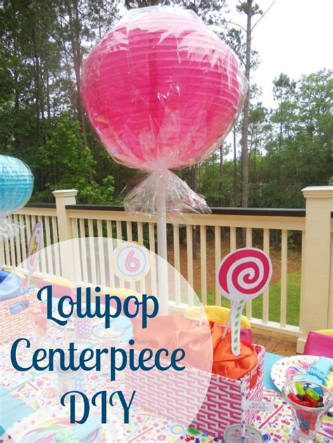 themes lollipop pink party ideas diy lollipop centerpiece and candy