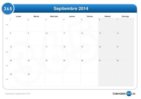 Calendario Septiembre Calendario Septiembre 2014