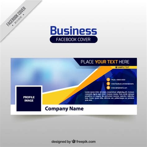 business facebook cover template vector free download