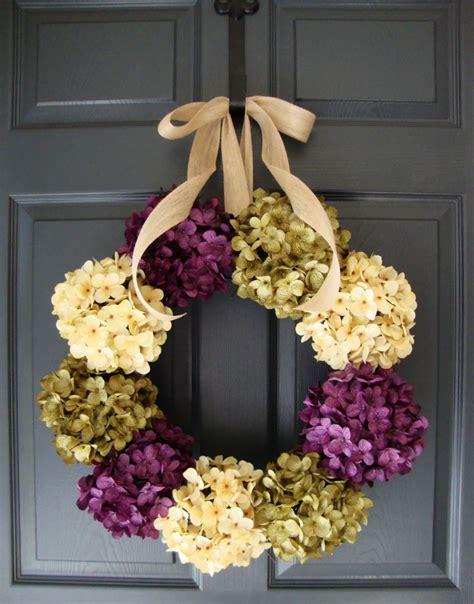 Hydrangea Wreath Fall Wreaths Front Door Wreaths Spring Front Door Wreaths Etsy