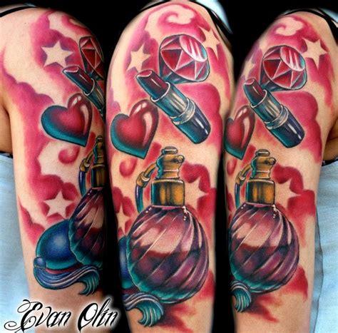 full color girly half sleeve tattoo by evan olin