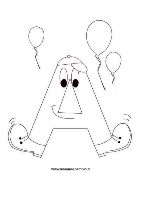 lettere animate da colorare alfabetiere lettera a mamma e bambini