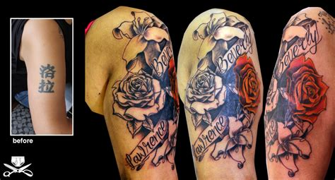 cover up tattoos on arm cover up using flowers hautedraws