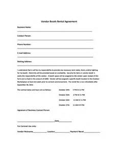 Salon Booth Rental Agreement Template by Vendor Booth Rental Agreement Template Free