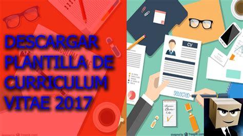 Plantilla De Curriculum En Word Gratis descargar plantilla modelo de curriculum vitae 2017 gratis