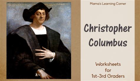 christopher columbus printable biography christopher columbus worksheet packet for 1st 3rd graders
