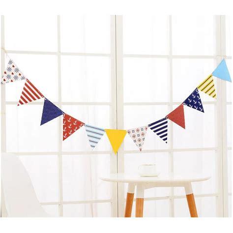 Bunting Flag Bridal Shower Motif Bunga 12 flags 2m pirate theme garland paperboard flags banner garland wedding birthday baby shower