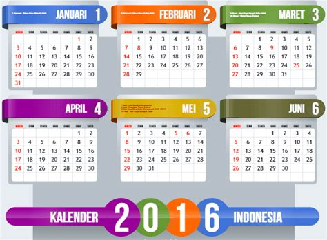desain kalender coreldraw 2016 desain kalender 2016 dan tanggal hijriyah format cdr